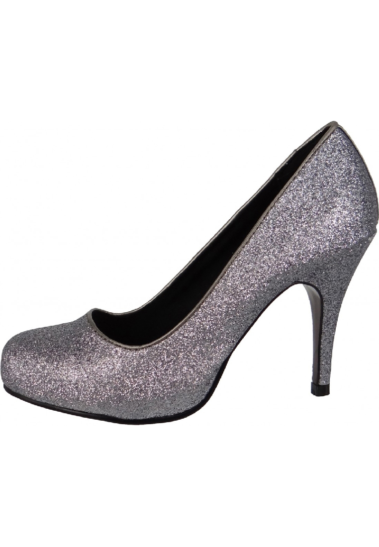 tamaris pumps high heels glamour glitzer gala silber pfennig absatz 22418 gr 38 ebay. Black Bedroom Furniture Sets. Home Design Ideas