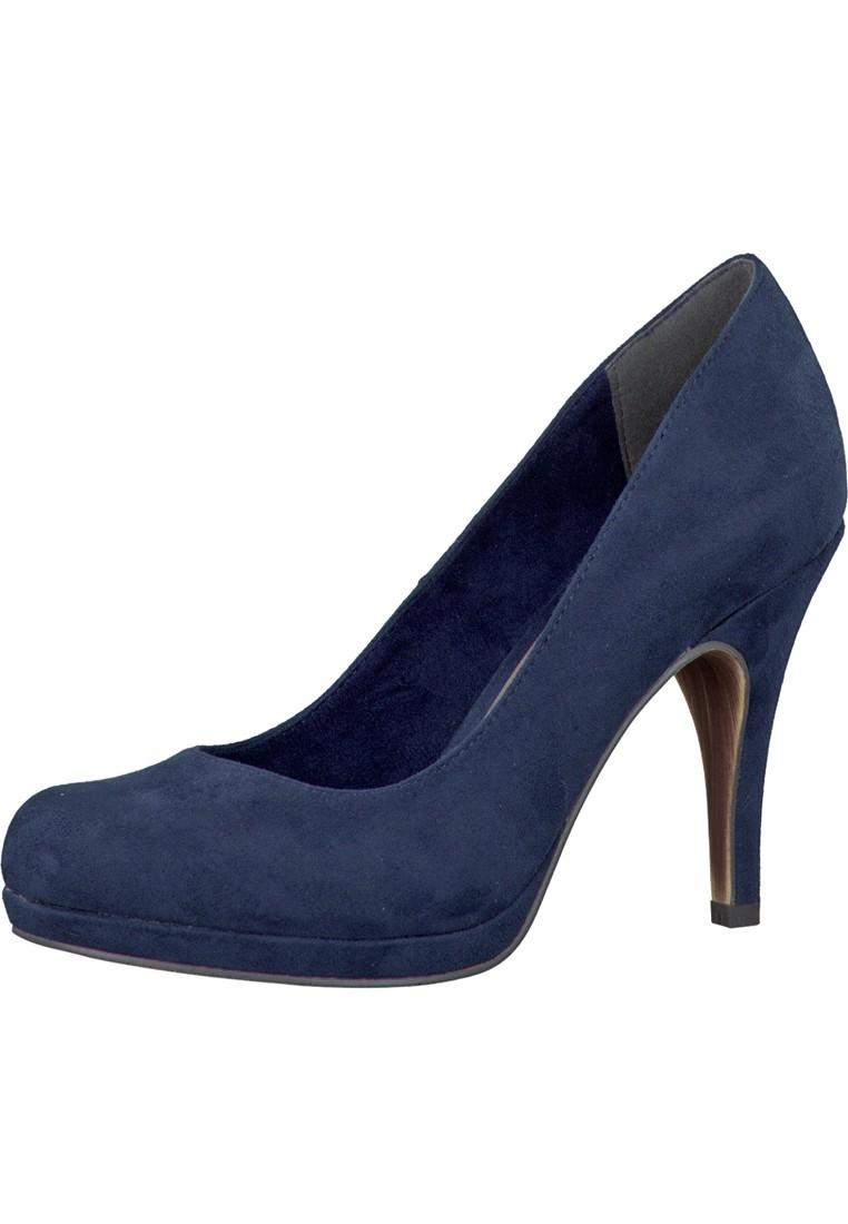 tamaris plateau pumps high heel wildleder imitat 1 22407 navy blau gr 36 41. Black Bedroom Furniture Sets. Home Design Ideas