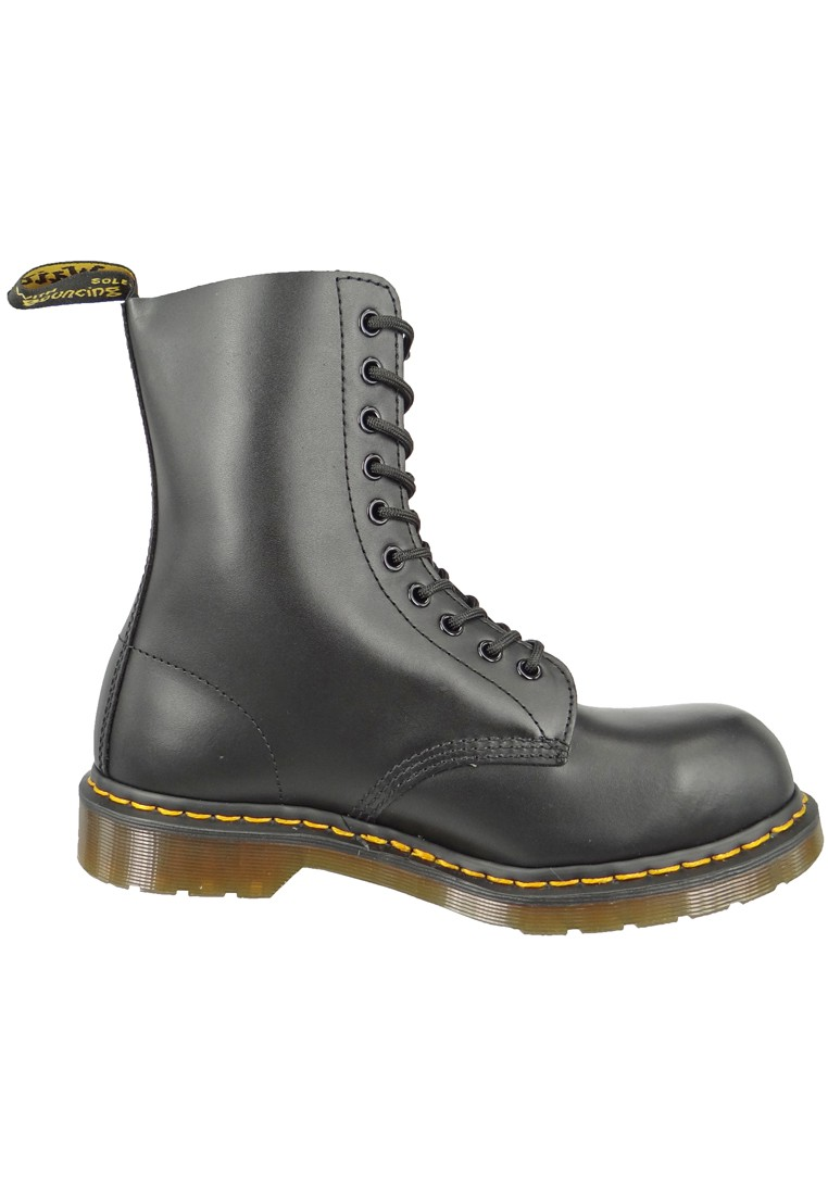 doc dr martens 1919 stahlkappe 10 loch black schwarz 10105001 herrenschuhe outdoor schuhe boots. Black Bedroom Furniture Sets. Home Design Ideas