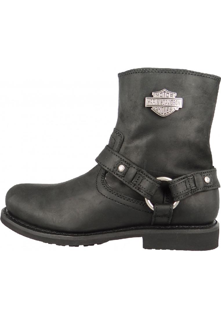 harley davidson biker boots stiefelette scout d95262 black schwarz harness herrenschuhe stiefel. Black Bedroom Furniture Sets. Home Design Ideas