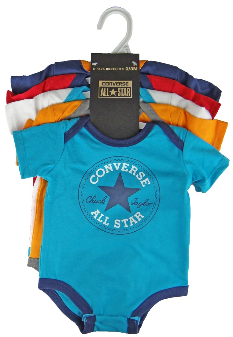 converse baby strampler 562273 jungs baby bodys 5er set auf b gel marken converse. Black Bedroom Furniture Sets. Home Design Ideas